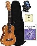 Oscar Schmidt OU5 Ukulele Bag, Aquila Strings, True Tune Tuner, Book Package Bundle