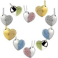 10pcs Multi-Colored Crystal Heart 16GB USB 3.0 Flash Drives Birthday Gifts