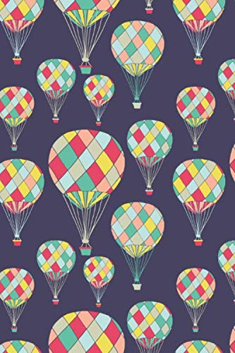 Balloon Hot Romantic Air - Hot Air Balloons: 6x9 Inch, Dot Grid Notebook Journal, 120 pages