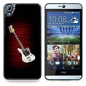 "Qstar Arte & diseño plástico duro Fundas Cover Cubre Hard Case Cover para HTC Desire 826 (Guitar Music Creation Art Dibujo Cultura Pop"")"