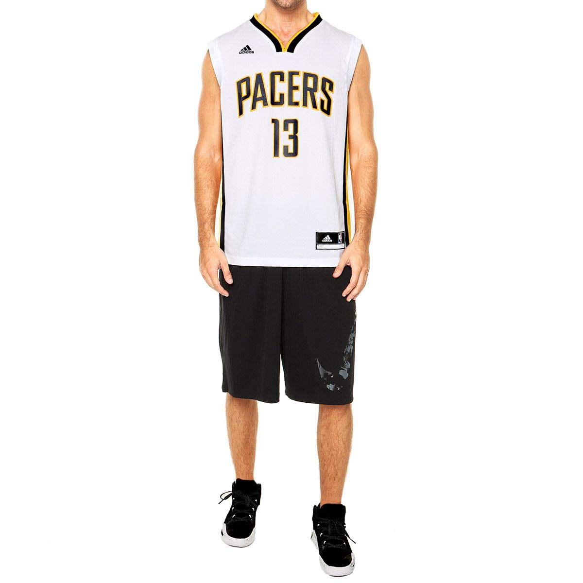 dabc72d2a Camisa Regata Adidas Nba Indiana Pacers Nº 13 George  Amazon.com.br   Esportes e Aventura