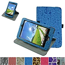 """Acer Iconia One 8 B1-810 / Tab 8 A1-850 Rotating Case,Mama Mouth 360 Degree Rotary Stand With Cute Lovely Pattern Cover For 8"""" Acer Iconia One 8 B1-810 / A1-850-13FQ Tablet,Blue"""