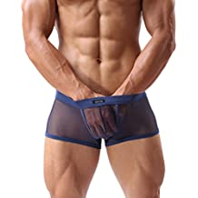 d71a984c5df Forest Men s Underwear Sexy Mesh Breathable Boxer Briefs Low Rise Cool  Boxers Pack Set