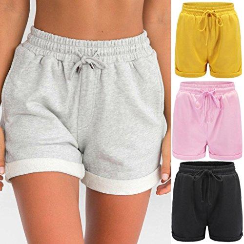 haoricu Women Shorts, New Women Sport Gym Hot Pants Casual Loose Shorts Beach Girl High Waist Short Trousers