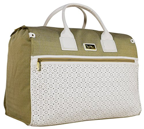 Nicole Miller Alexa Box Bag Carry On (White)