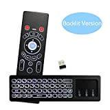[Upgraded] KingLeChange T6 Pro Backlit Air Mouse with 2.4Ghz Mini Wireless Keyboard Remote Control IR Learning Best for Android Smart TV Box IPTV Apple TV Laptop Macbook PC HTPC (With Backlit)