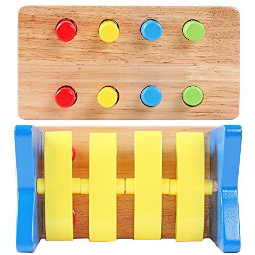 QZM Deluxe Pounding Bench Wooden Toy With Mallet Early Educational Games for Toddlers Kids and Ages 2 years and up by QZM woden toys (Image #3)