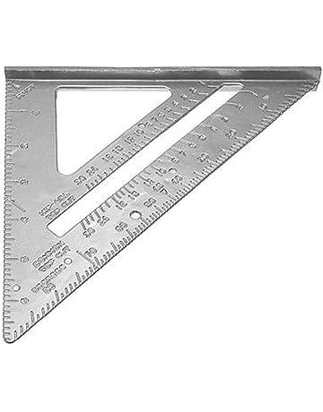 Festnight Regla de la medida que enmarca del inglete del transportador reglas del triángulo de la