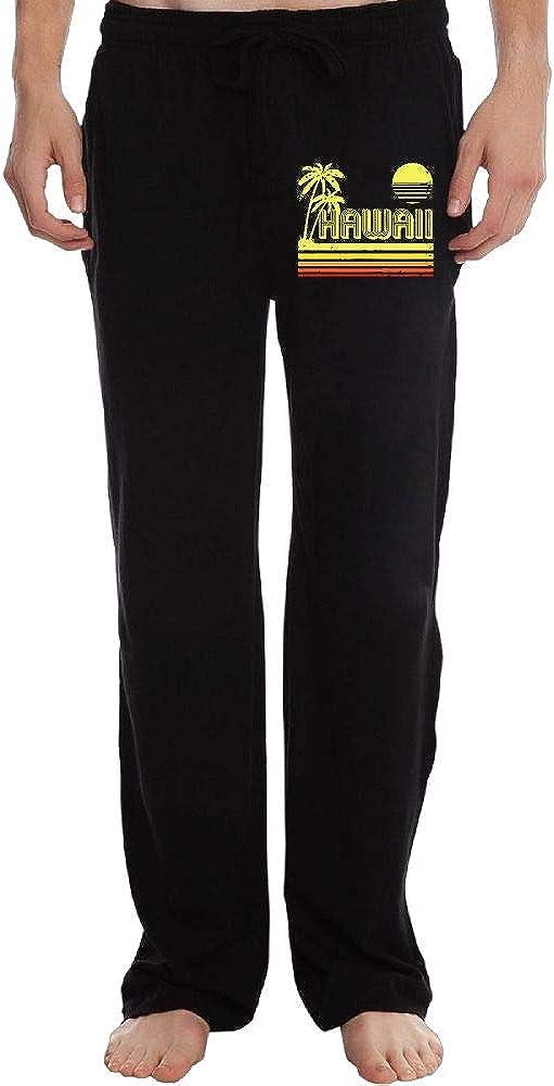 Fashion Vintage Hawaii 100/% Cotton Sports Pants Sweatpants Men
