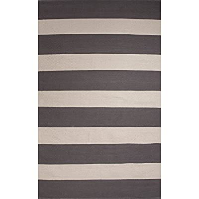Jaipur Living Trion Reversible Flatweave Striped Gray/Silver Area Rug (8' X 11')