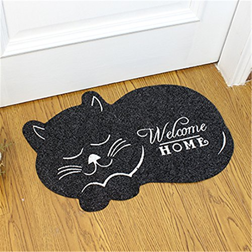 Beetle Pet Sofa - CarPet Cat Shape Floor Mat 4060Cm Anti-Slip Floor Kitchen Toilet Tapete Water Absorption Non-Slip Rug Porch Doormat CC-002 black 40x60cm