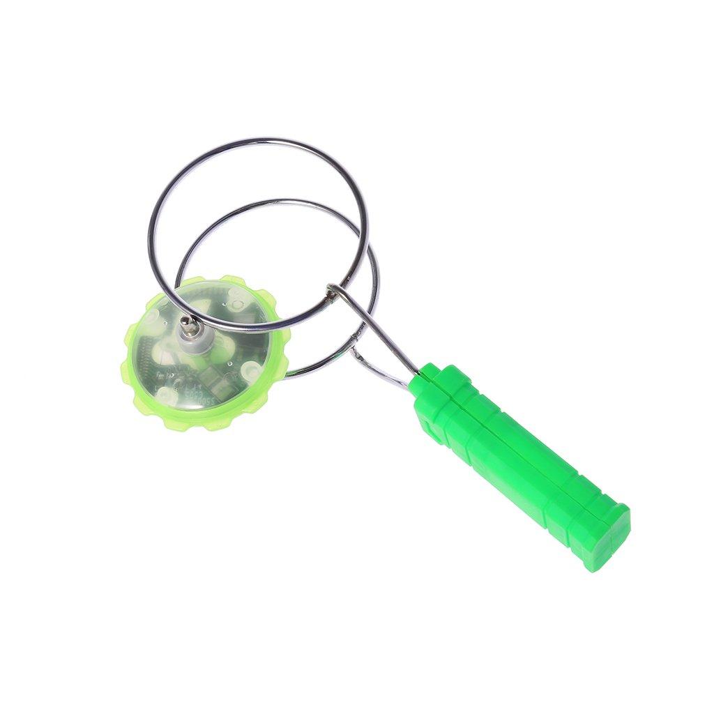 LED Colorful Light Gyro Magnetic Gyro Wheel Magic Spinning YoYo Toys Kids Gifts LAOSI