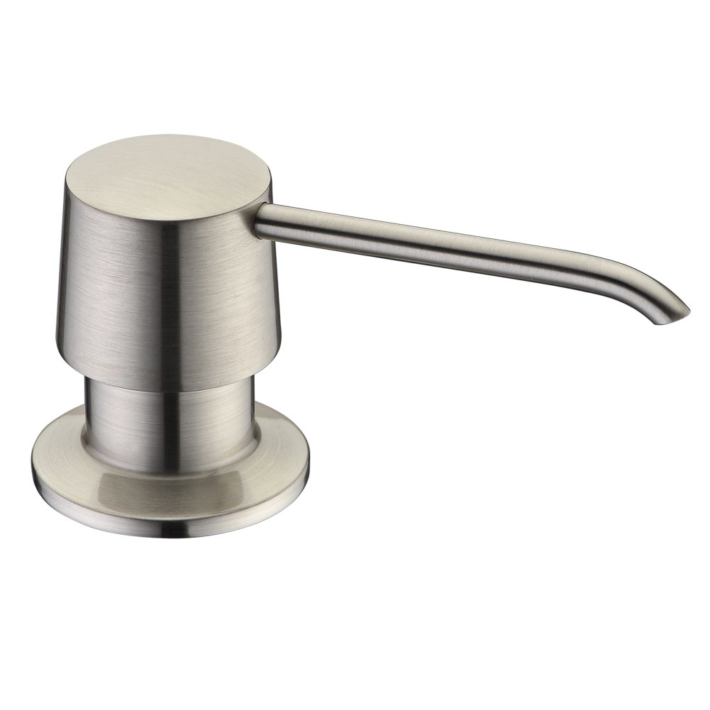 Brass Sink Soap Dispenser Pump Brushed Nickel Delle Rosa Brass Head Kitchen Sink Soap Dispenser Soap or Lotion Pump Dispenser by Delle Rosa