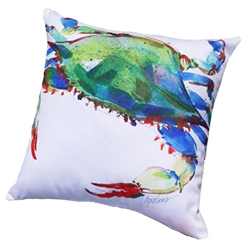 Blue Crab Decorator Pillow, Indoor Outdoor Use ()