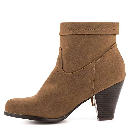 Justfab Just Fab Womens Angeleno Closed Toe Ankle Fashion Boots  Taupe  Size 7 0