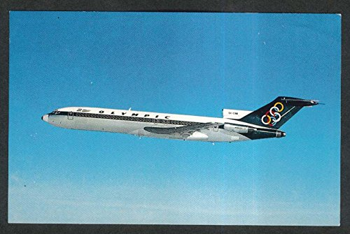 Olympic Airways Boeing 727-200 jet aircraft Olympic Rings postcard - Jet Airways Aircraft