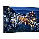 Scott Stulberg Premium Thick-Wrap Canvas Wall Art Print entitled Vernazza after dark, Cinque Terre, Italy