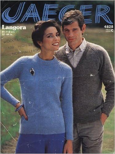 Jaeger Knitting Pattern 4828 Hishers Angora Sweaters 32 44in