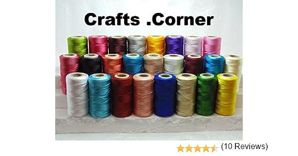 25 bobinas de hilo de bordar de seda grande brillante, 25 colores ...