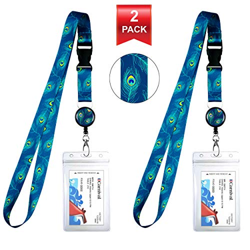2-Pack Cruise Lanyard & Waterproof ID Key Card Holder Clip. Matching Retractable Badge Reel. Bonus Travel Organizer Bag. Essential Cruise Ship Accessories. Peacock Feathers (Peacock Key Holder)