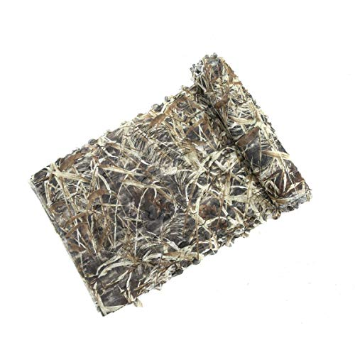 Auscamotek 7oz Super Light Camo Netting for Duck Geese Hunting Blinds-Dry Grass 5×20Ft ()