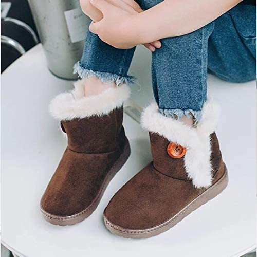 Toddler//Little Kid E-FAK Baby Toddler Girls Boys Boots Warm Winter Snow Booties Bailey Button Flat Outdoor Shoes Toddler//Little Kid