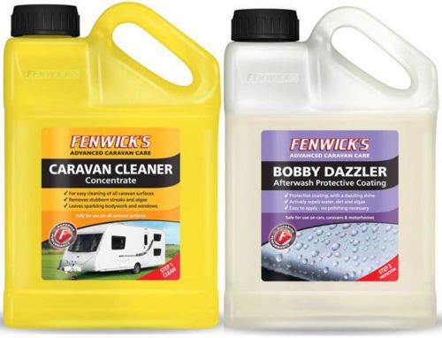 Fenwicks Caravan Clean & Bobby Dazzler Twin Pack (Both 1 Litre Bottles)