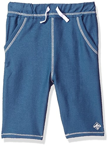 (Burt's Bees Baby Baby Little Kids Shorts, Infant Knit Bottoms, 100% Organic Cotton, Blue Star Reverse Terry, 7 Years)