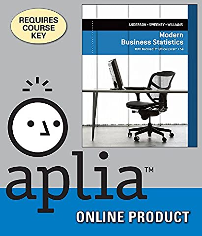 Aplia for Anderson/Sweeney/Williams' Modern Business Statistics with Microsoft Excel, 5th Edition (Modern Business Statistics)