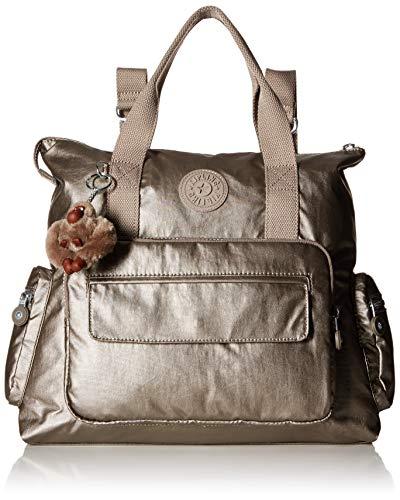 Kipling Alvy 3-in-1 Convertible Handbag, Metallic Pewter