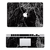 Vati Leaves Removable Black marble Protective Full Cover Vinyl Art Skin Decal Sticker Cover for Apple MacBook