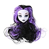 chinatera Toy Accessories Articles Original Fairy Monster Pattern Naked Doll Head with Long Hair PVC Plastic Devil Nude Doll Head