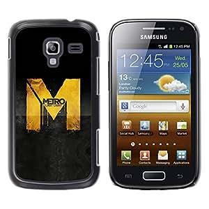 Caucho caso de Shell duro de la cubierta de accesorios de protección BY RAYDREAMMM - Samsung Galaxy Ace 2 I8160 Ace II X S7560M - Metro Game