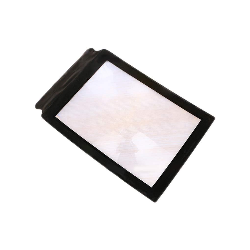Lorjoyx 3X Lectura de Aumento de PVC Cristal HD port/átil Lupa Plegable port/átil de tama/ño de Papel A4 la p/ágina /índice de Lupa