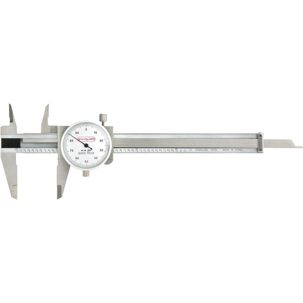 Grizzly G9808 4-Inch Dia Length Caliper