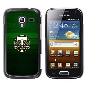 Portland Timber - Metal de aluminio y de plástico duro Caja del teléfono - Negro - Samsung Galaxy Ace 2