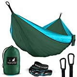 Automotive : Double Portable Camping Hammock & Straps – Parachute Hammock Tree Straps Set with Max 1000 lbs Breaking Capacity Included – FREE Lightweight Carabiners For Backpacking, Camping, Hiking, Travel, Beach,