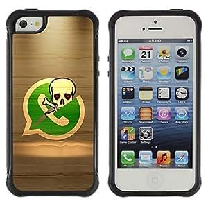 Fuerte Suave TPU GEL Caso Carcasa de Protección Funda para Apple Iphone 5 / 5S / Business Style Pirate Skeleton Phone