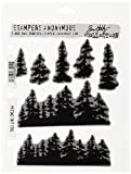 Stampers Anonymous Tim Holtz Cling Rubber Stamp Set, 7'' by 8.5'', Tree Line