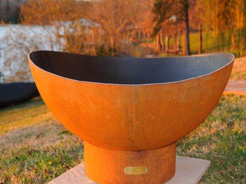- Fire Pit Art SC Scallops Fire Pit, Metal