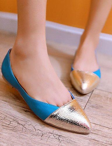 Chaussures En Cn37 Yellow us6 Similicuir bleu Rond 7 femme jaune rouge Casual 5 Bout Plat Appartements Uk4 Eu37 5 5 Pdx Talon Noir 5wqZFPE6ZB