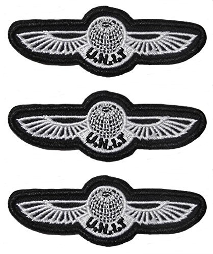 "Doctor Who TV Series U.N.I.T. Wing SET OF 3 Embroidered 3 1/8"" Wide PATCHES"