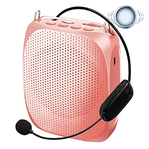 Amplificador de voz inalámbrico, mini altavoz portátil recargable de 10 vatios con micrófono de auriculares de alta...