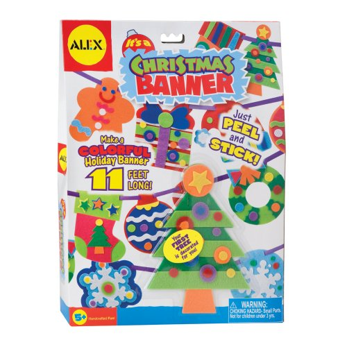 ALEX Toys Craft It's A Christmas Banner Decoration Kit -