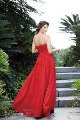 hochzeits-shop-hamburg - Vestido - corte imperio - para mujer Rojo