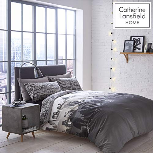 Catherine Lansfield City Scape New York Single Bed Duvet Quilt Cover Bedding Set from Catherine Lansfield
