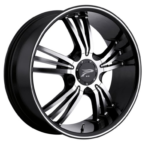 Platinum 122B Wolverine Gloss Black with Diamond Cut Wheel (18x8