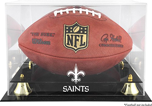Mounted Memories New Orleans Saints Team Logo Football Display Case