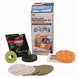 3M 39165 Headlight Restoration Kit (Heavy Duty – Drill Activated)