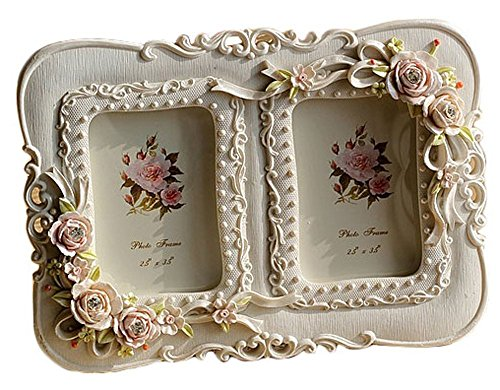 Giftgarden 2.5x3.5 Double Picture Frames Collage Two Opening Photo Frame for Wedding, Anniversary, Valentines Gift